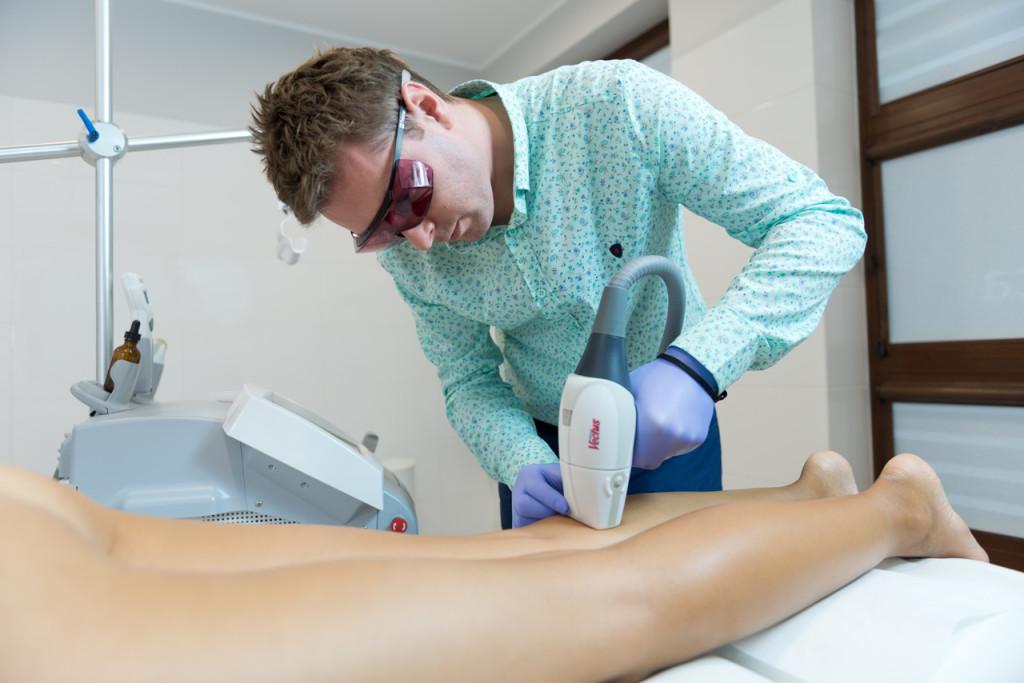 Depilacja laserowa nogi