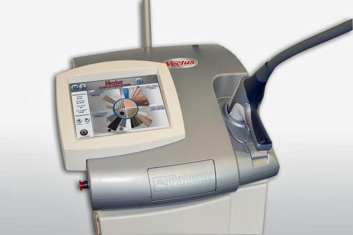 Sprzęt do depilacji laserowej urządzeniem Vectus